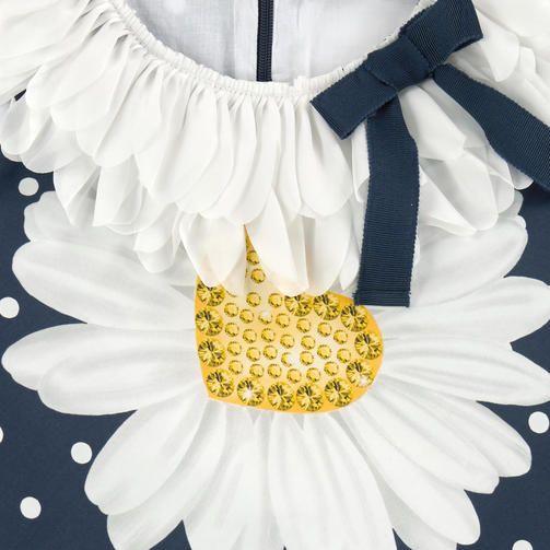 Платье с рисунком из поплина с лепестками