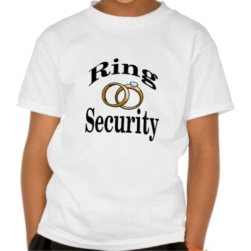 "Wedding Fun: Ring bearer shirt, child's or adult""Ring Security"" shirts and more."