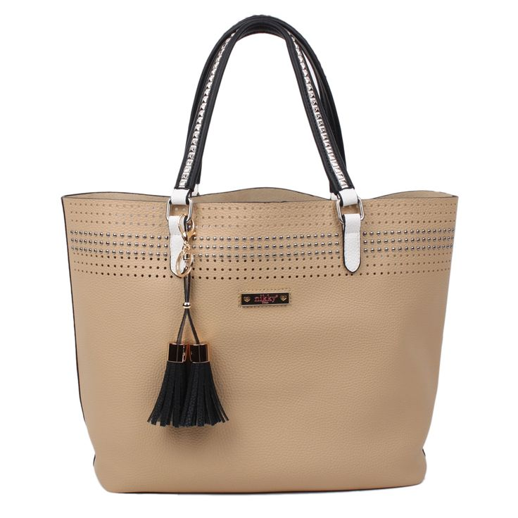 Nicole Lee Nikky Starr Camel Tote Bag