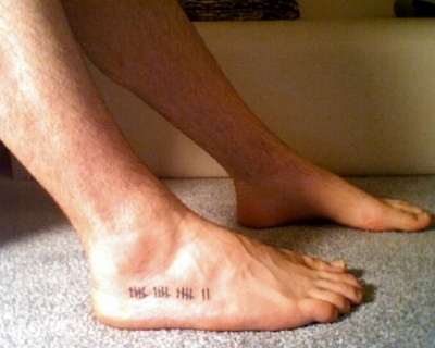 each tally mark signifies a country he's been to. epic idea.: Tattoo Ideas, Tally Marks, Country Visit, Feet Tattoo, Ink D, Cool Ideas, Piercing Tattoo, Foot Tattoo Travel, Mark Signifi