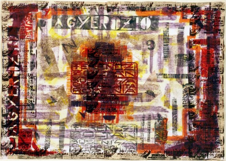 Linocut, zincography, aquaforte on X-ray film, 1996