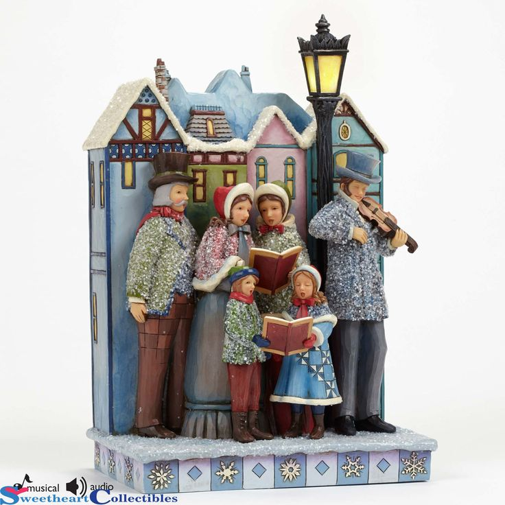 Victorian Christmas Carolers Decorations: Jim Shore 4047676 Victorian Carolers Musical Lited