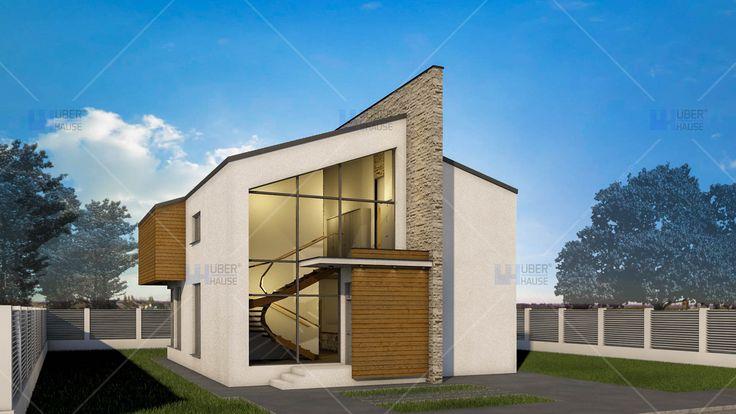 Proiect casa parter + mansarda (145 mp) - Ascend. Mai multe detalii gasiti aici: https://www.uberhause.ro/proiect-casa-parter-mansarda-145-mp-ascend