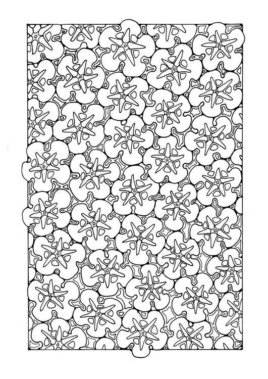 Målarbild blommönster