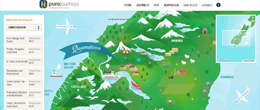 The Illustrated Map of New Zealand