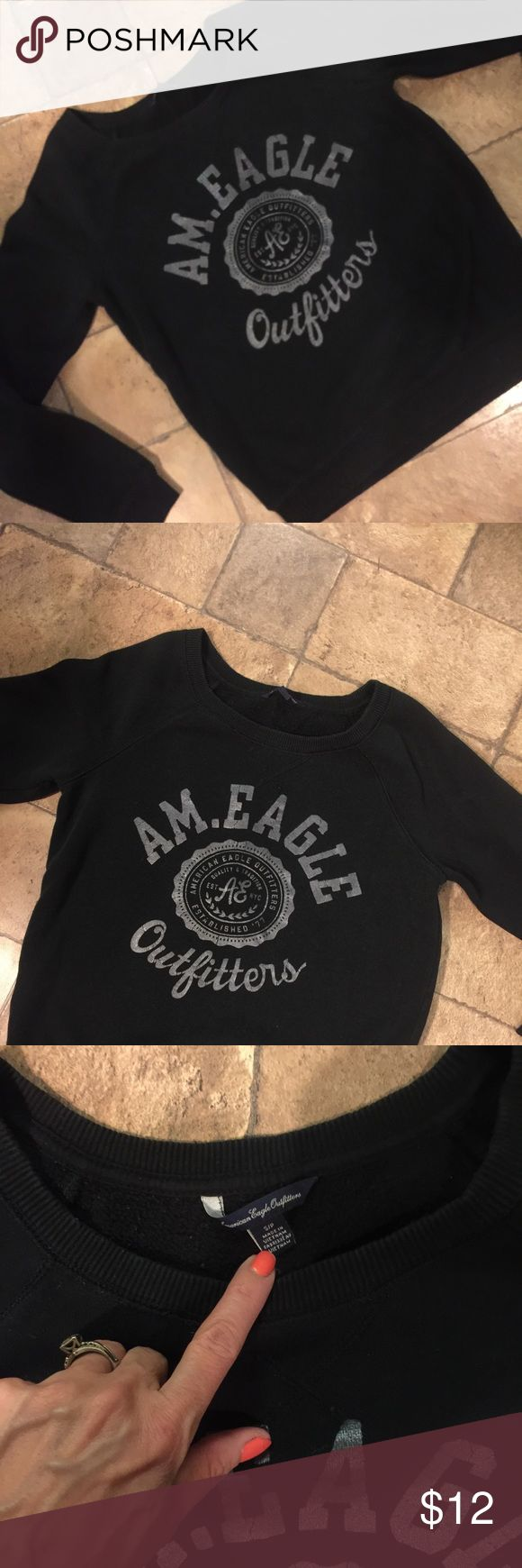 American Eagle Sweatshirt Sz S and in great used condition.Cleaning out my daughter's room and making some room for more clothes that will be on here in 6 months.Lol American Eagle Outfitters Tops Sweatshirts & Hoodies