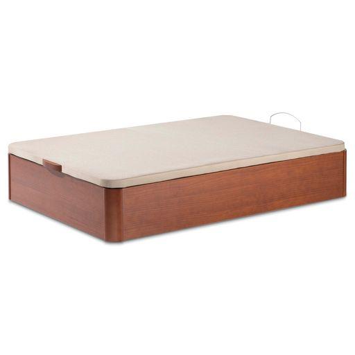 Canapé abatible de madera con tapa abatible de estructura metálica y tapizado transpirable