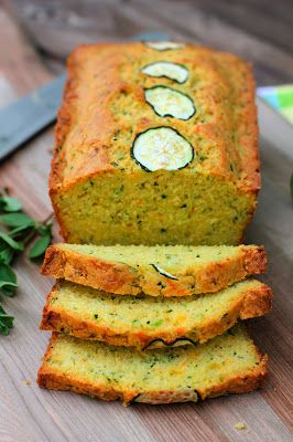 Browned-Butter Zucchini Cornbread...A savory zucchini cornbread with the rich flavor of browned butter, sharp cheddar cheese, and fresh herbs.