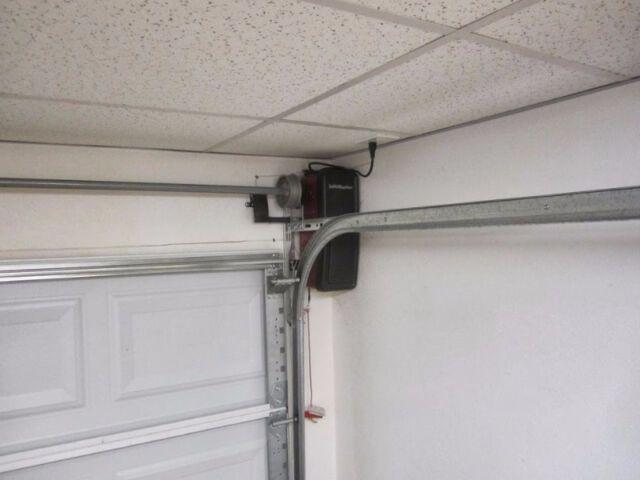 Liftmaster 8500 Garage Door Opener Side Mount Installed Garage Door Opener Installation Garage Doors Garage Door Opener