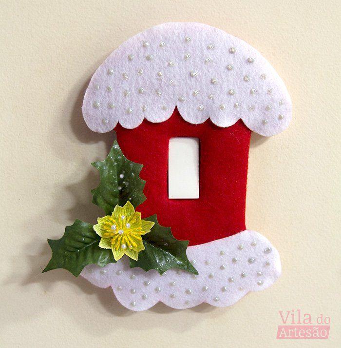 Tutorial Vila do Artesão - Como decorar seu interruptor para o Natal