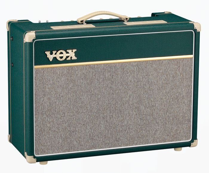 vox custom ac15 15w tube guitar combo amp with celestion greenback british racing green guitar. Black Bedroom Furniture Sets. Home Design Ideas