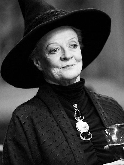 Professor McGonagall. Love this picture of her.