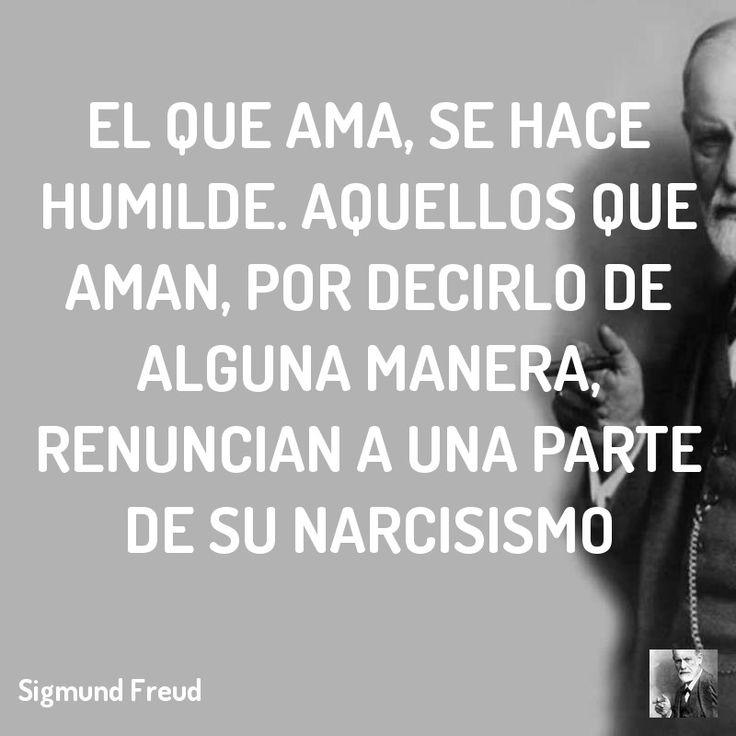 El que ama, se hace humilde. Aquellos que aman, por decirlo de alguna manera, renuncian a una parte de su narcisismo  #psicoanalisis #freud