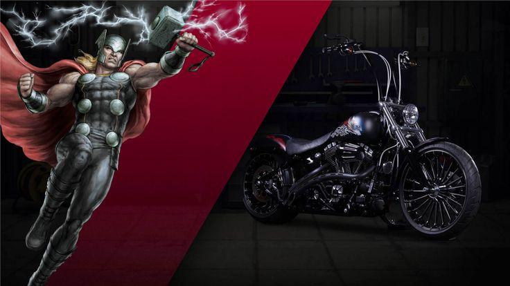 Os mais mediáticos heróis de banda desenhada da Marvel já têm motos…
