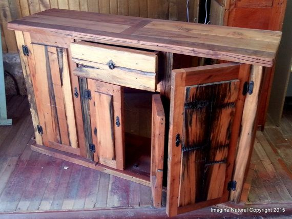 Reclaimed Oak Cupboard  Cabinet Handmade in by ImaginaNatural