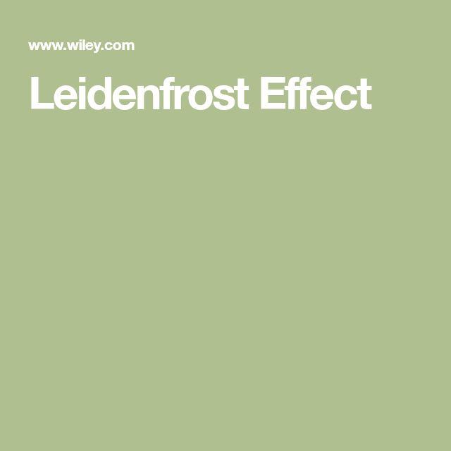 Leidenfrost Effect