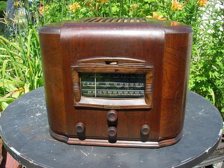 Old Radio Short Wave Jim Brown Vintage Antique Tube Unique