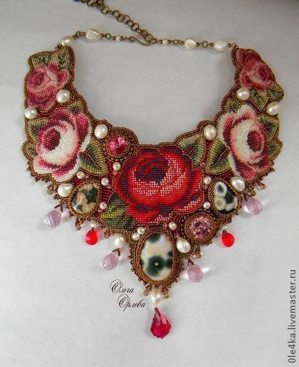 Колье, бусы ручной работы. Ярмарка Мастеров - ручная работа Розовый сад. Handmade.