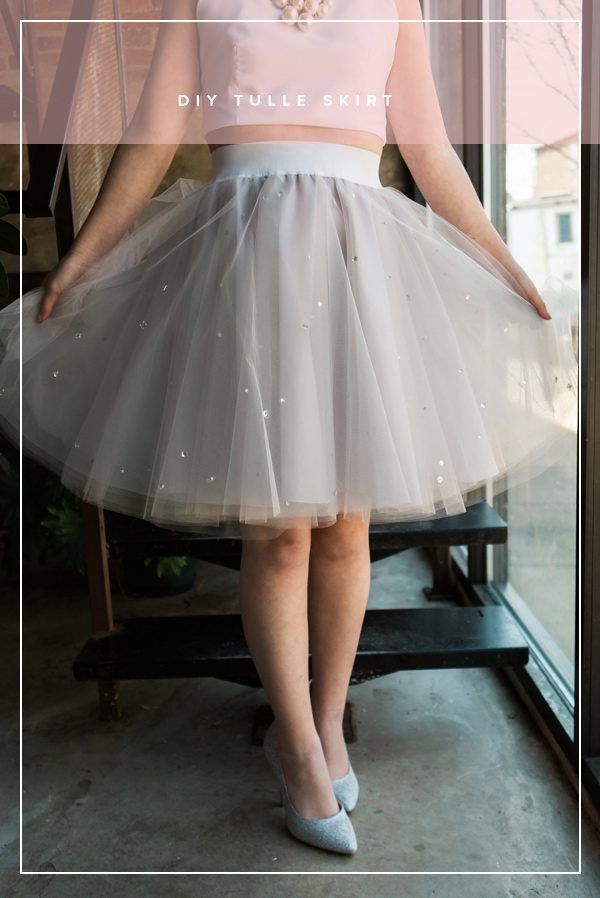 Invest in some DIY fashion that is fun and versatile! Ruffled demonstrates how to make your very own tulle skirt with rhinestones. Perfect for bridesmaids gifts and brunch with the ladies.