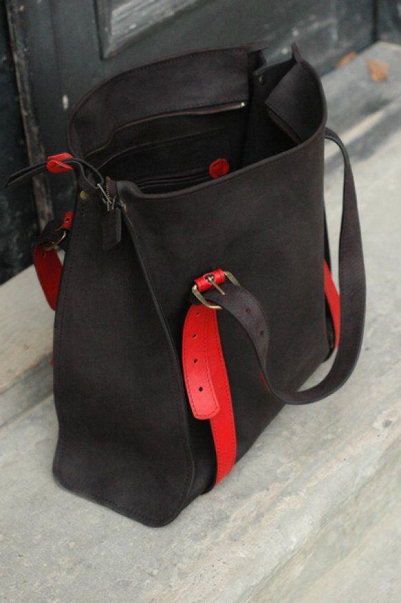 Veľká kabelka na rameno Lili Red by HANAH bag na Giftendo.sk