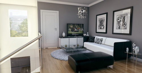 Living room grey walls su deco livingroom pinterest - Gray living room walls ...