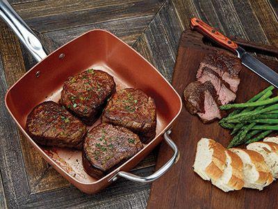 Steak In The Copper Chef Pan Recipes Copper Chef Recipes Copper Chef Foods Pinterest