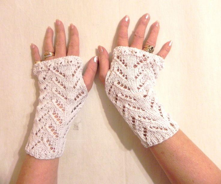 mitaine et fait main | mitaines fait main en coton blanc mitaines d'été Shabby chic ...