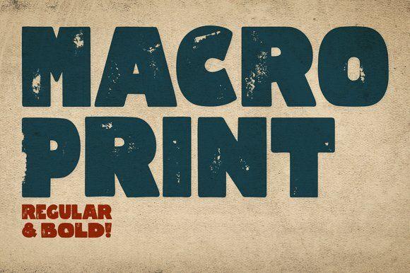 Macro Print by Gustav & Brun on @creativemarket