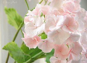 Розовая гортензия. Керамическая флористика.