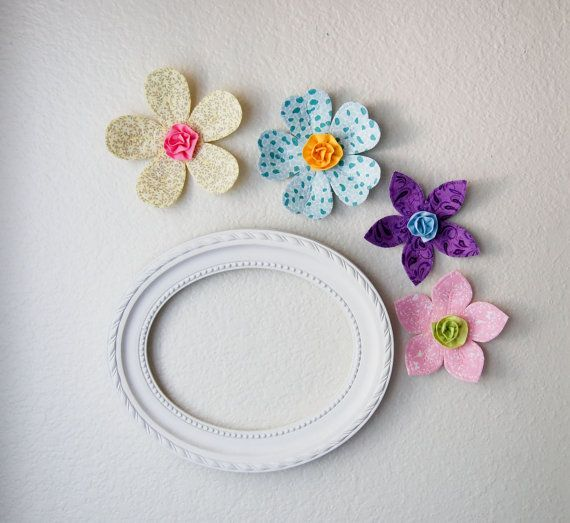 3d wall art decor is a great alternative to traditional wall decal. perfect for girls room or nursery wall decor or baby shower gift. blue