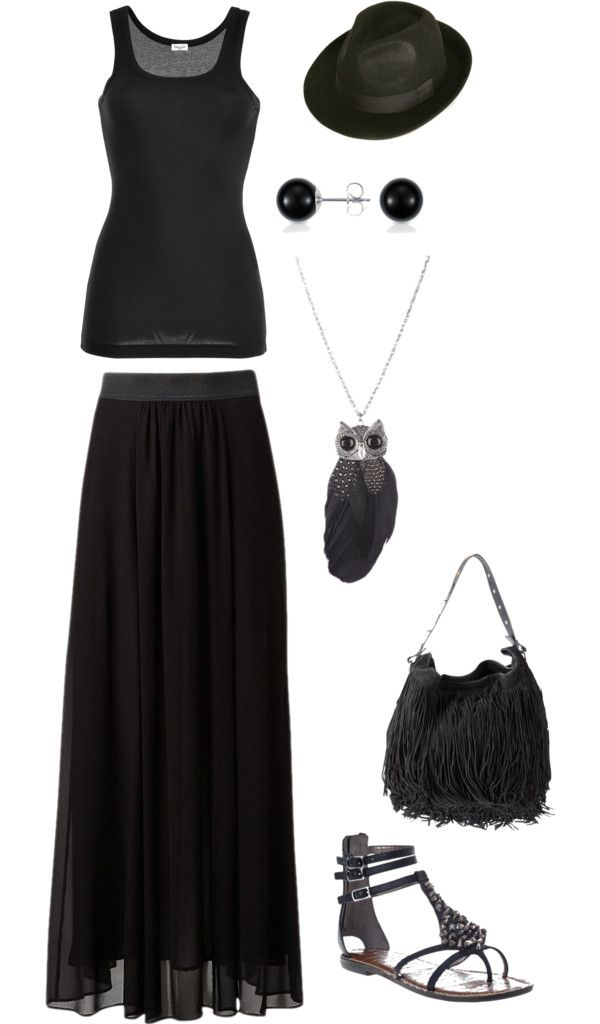 Gothic Hippie, created by hollydiane on Polyvore