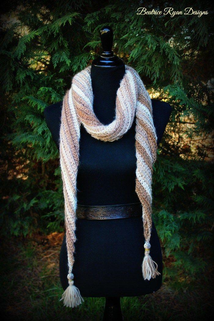 Mejores 93 imágenes de Crochet scarves en Pinterest   Bufandas ...