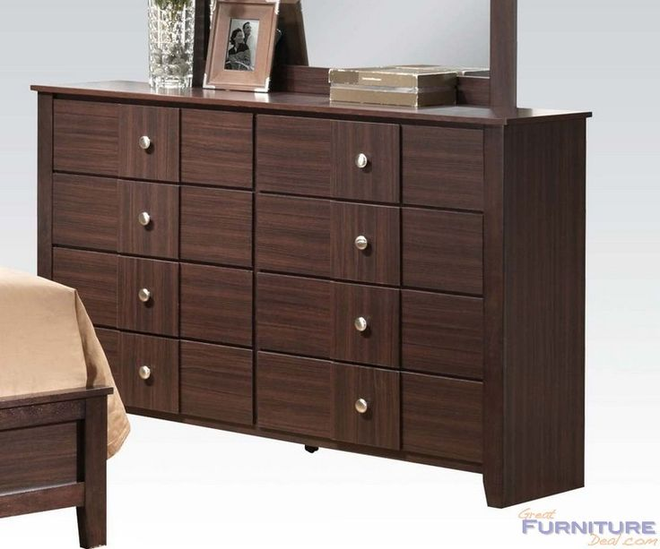 Acme Furniture - Racie Contemporary Dresser in Dark Merlot - 21945