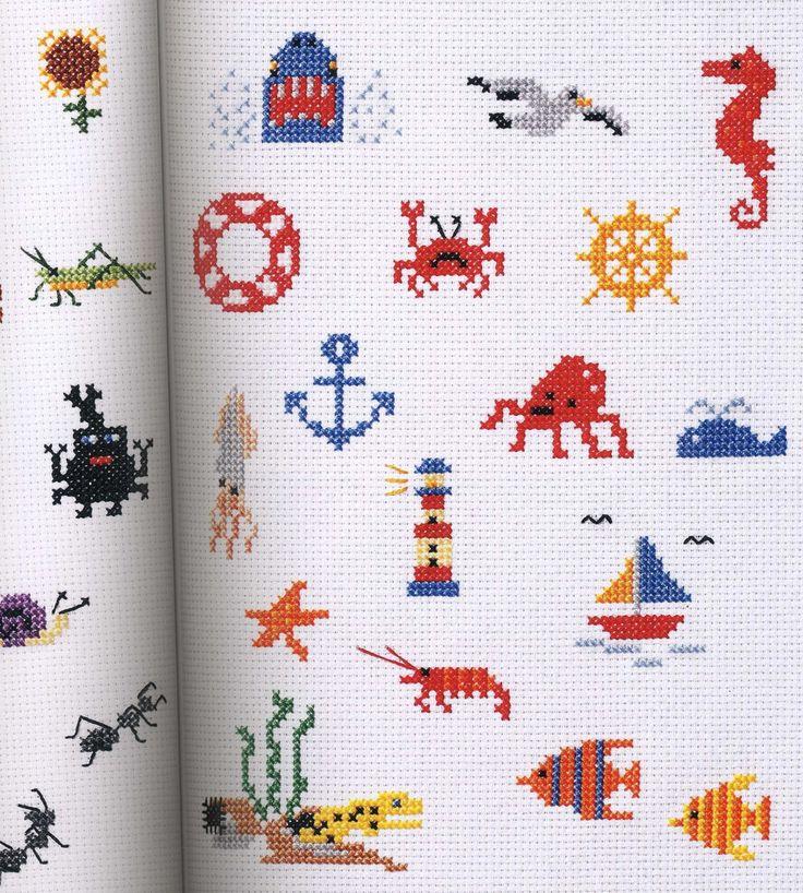 Small crosses stitch patterns.