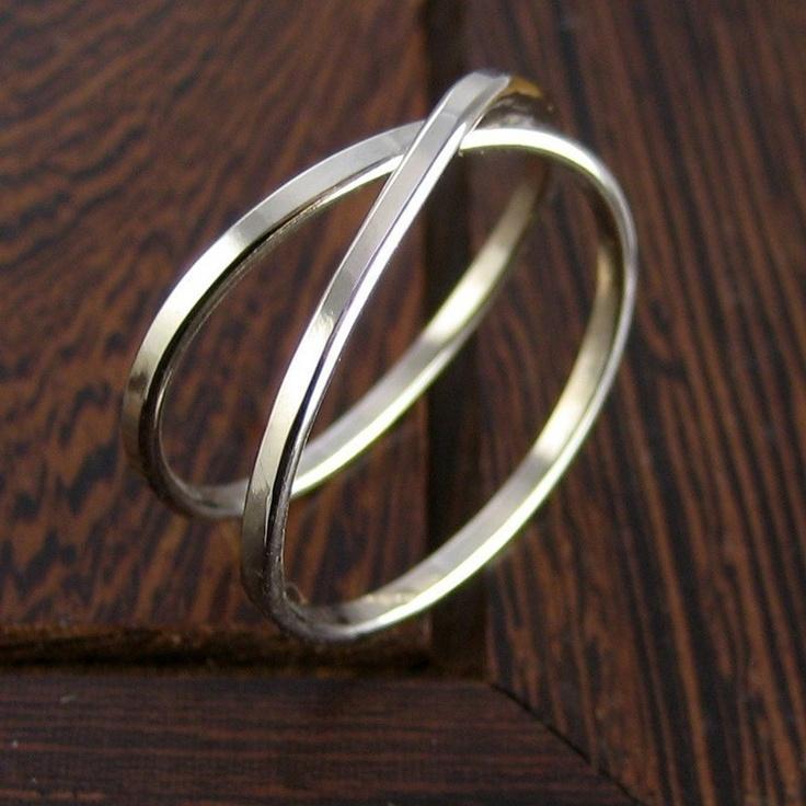 14K Palladium White Gold Infinity Eternity Ring, sizes 3 through 6, any size available, Sea Babe Jewelry. $255.00, via Etsy.