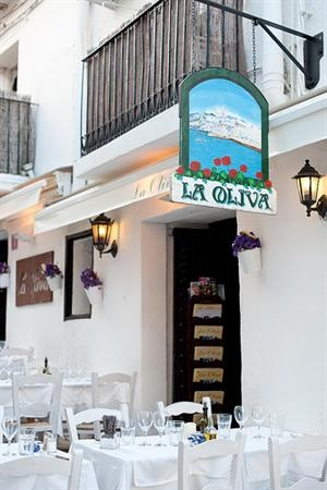 Romantic surroundings in the old town of Ibiza! nice food! La Oliva, Dalt Vila, Ibiza, Spain