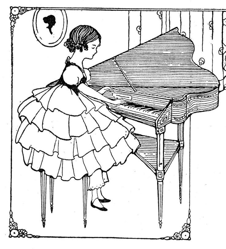 34 best icolor music images on pinterest coloring for Harpsichord coloring page