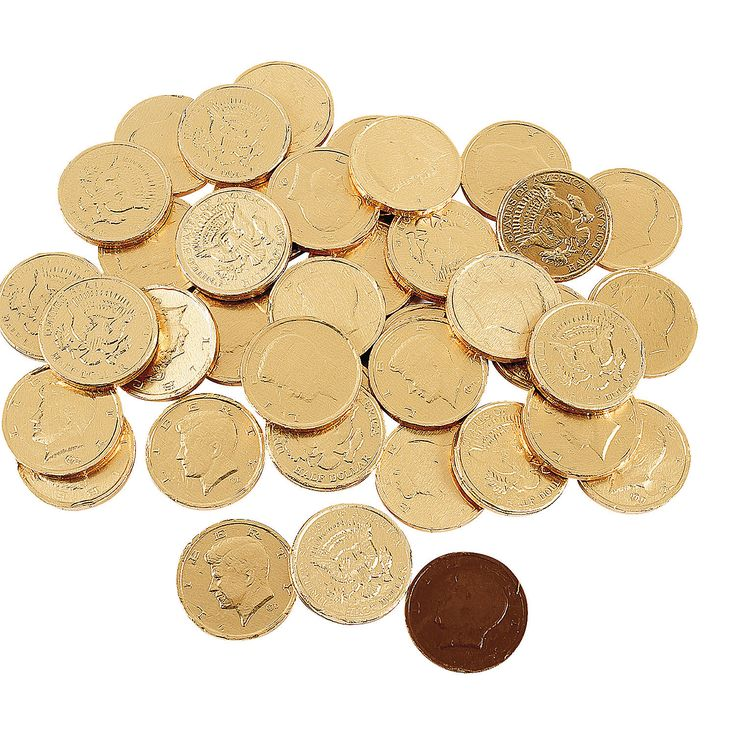 $22.00   for  120    -   Chocolate Gold Coins - OrientalTrading.com
