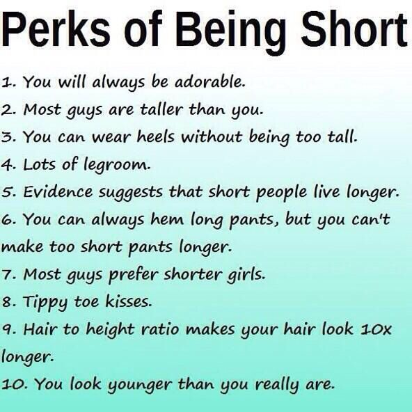 Perks of being short