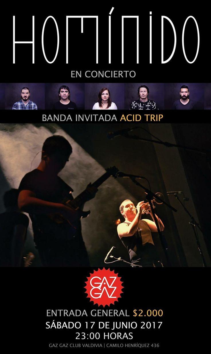 Concierto de HOMÍNIDO   ACID TRIP en Club Gaz Gaz, Valdivia.
