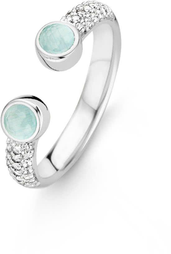 TI SENTO Milano Ring 12093AG - maat 16 mm (50) - Zilver witgoudverguld