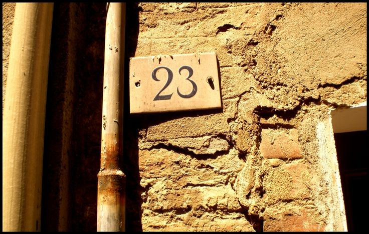23 is a cool number - Time ago I thought to take a shot of every 23 here in Siena. This just the first one and it's just in front of my home door, maybe I'll continue.