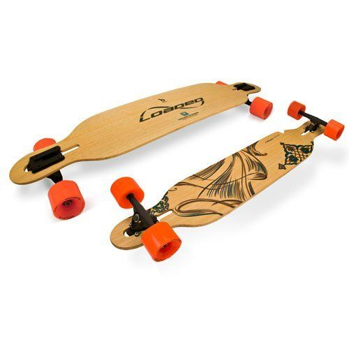 """Loaded Dervish Complete Longboard 41.5"""" by Loaded. $321.99. Practically indestructible and more Loaded than ever, the Loaded Dervish is a lively bamboo composite board to offer the finest low ride ever. A lower center of gravity and a torsionally stiff design, the Dervishes are built to hold an edge and maximize energy return. With symmetrical shape and stance for a balanced center of gravity, as well as the ability to weigh and un-weigh the deck through turns ..."""