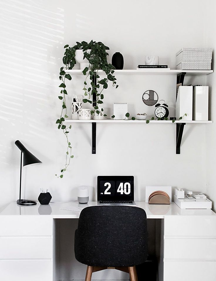 black and white desk decor home black and