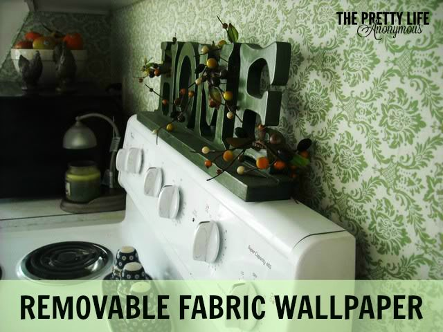 Removable Fabric Wallpaper | http://prettylifeanonymous.blogspot.com