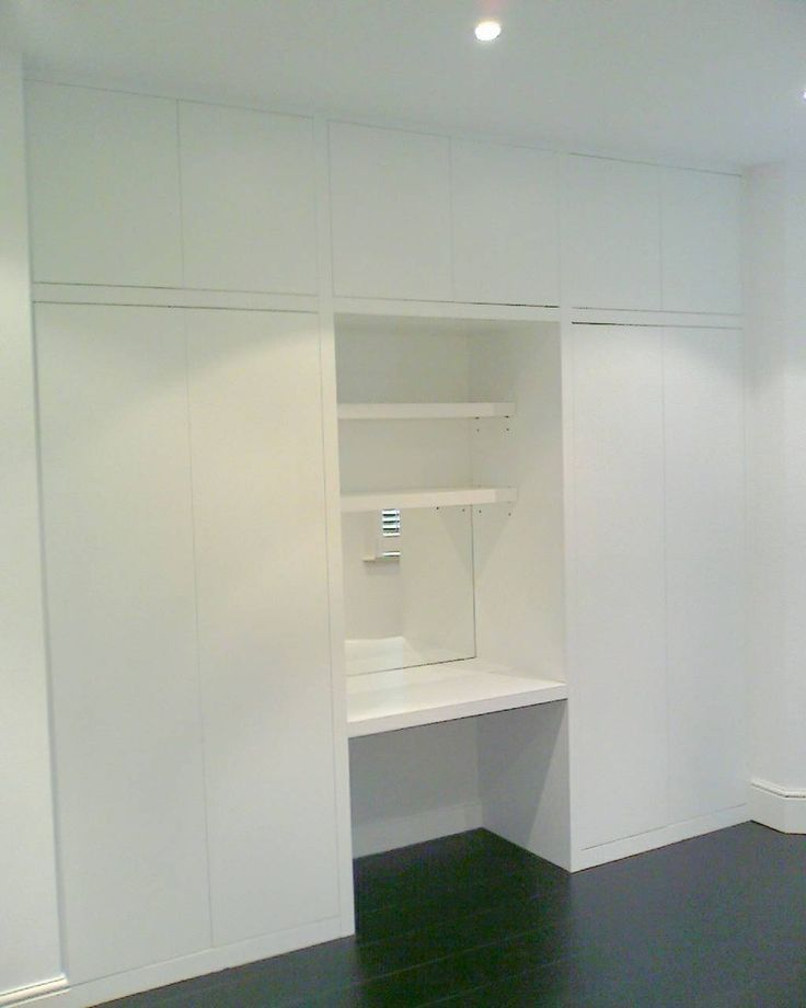 Built in wardrobe with dressing table