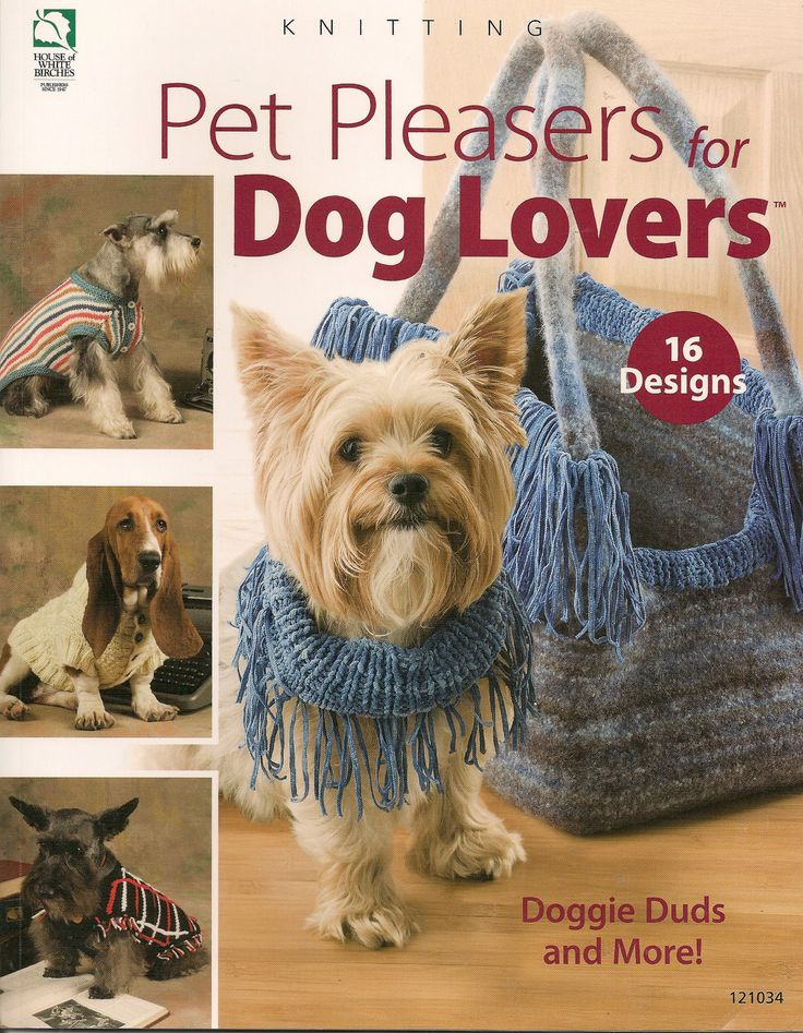 Knitting Patterns For Dogs Book : 127 best images about Critter Knits And Crochet--patterns for pets on Pintere...