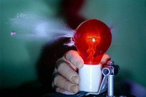 Red Light Bulb  Photo by spyzter.