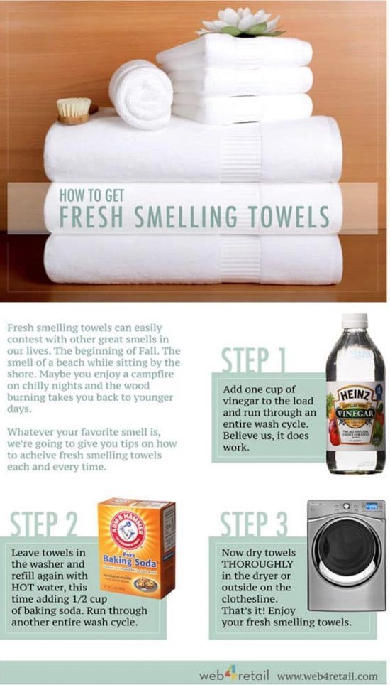 0c50267ca58d3bd69cb3e4915eaf235f Learn how to recharge your towels using vinegar and baking soda with this very c...