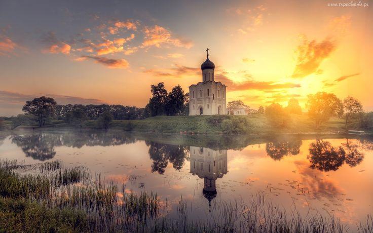 Zachód, Słońca, Cerkiew